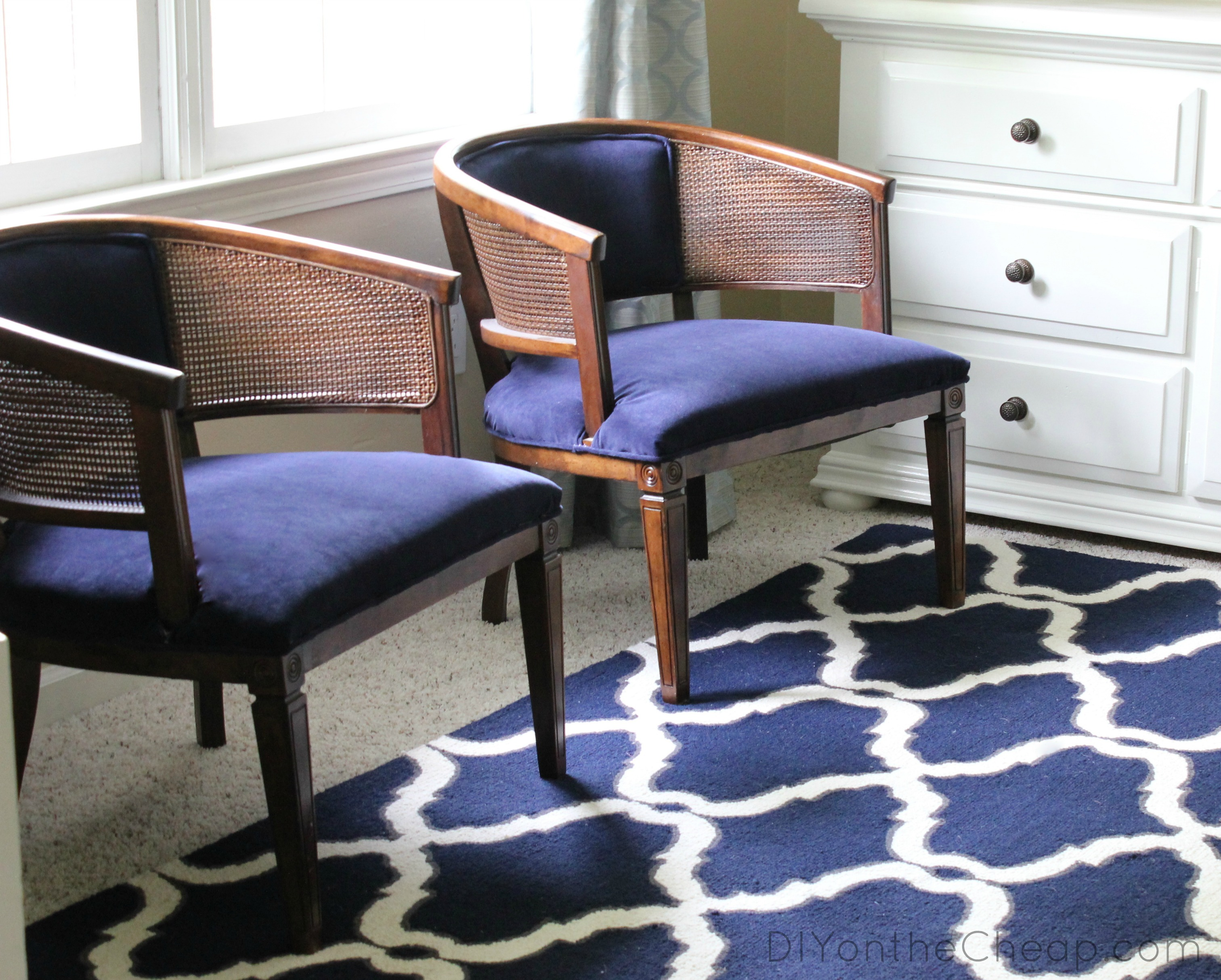My Lazy Girls Guide To Reupholstering Chairs