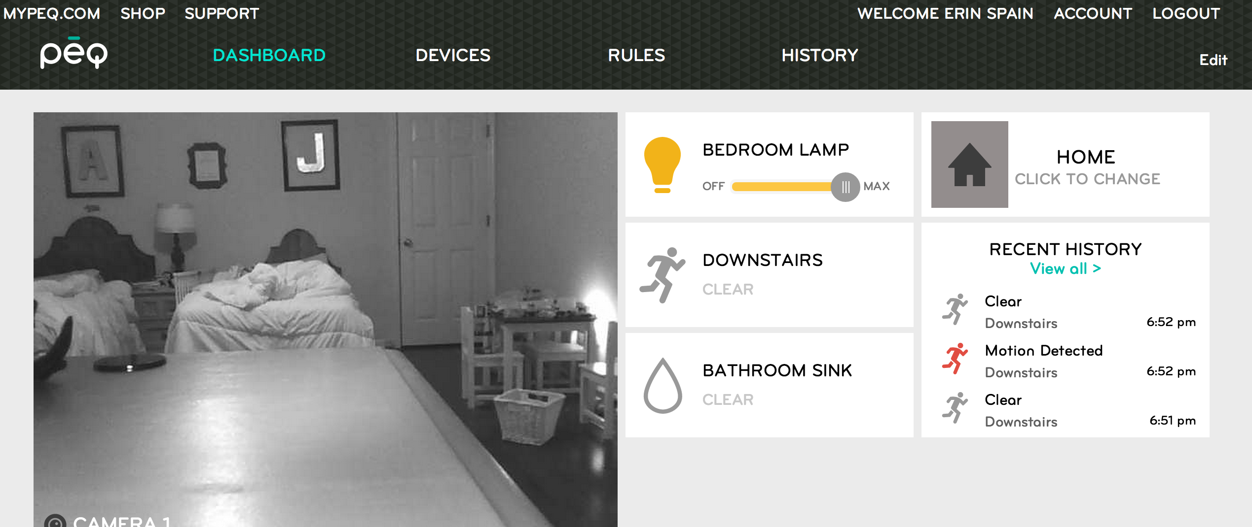 What would you use the PEQ Smart Home Service for? #C28D09