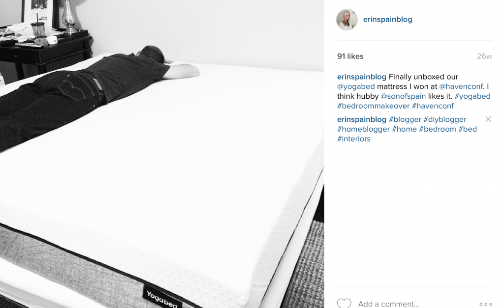 Yogabed Mattress in the Master Bedroom