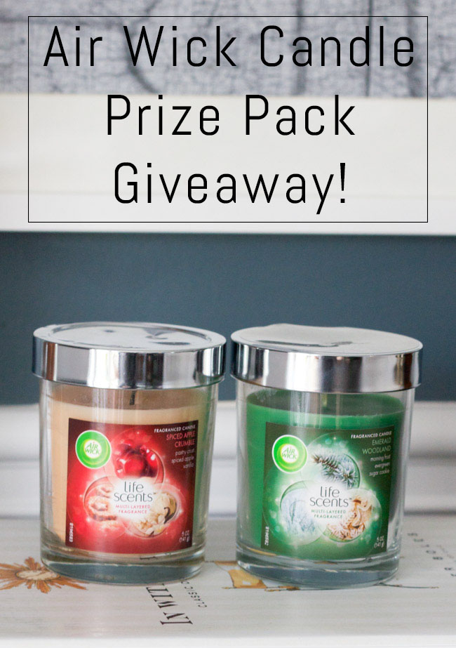 Enter to win an Air Wick Candle Prize Pack!