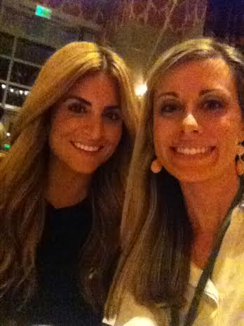 Blogger Erin Spain and HGTV's Alison Victoria have dinner during the Design Bloggers Conference