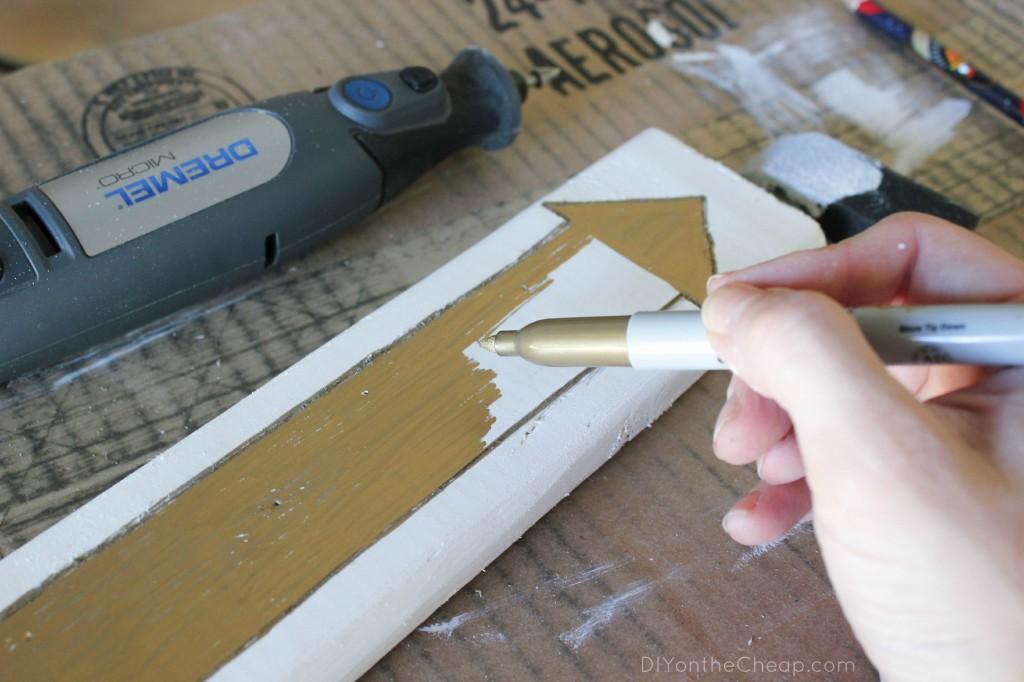 Create arrow art using the Dremel Micro!