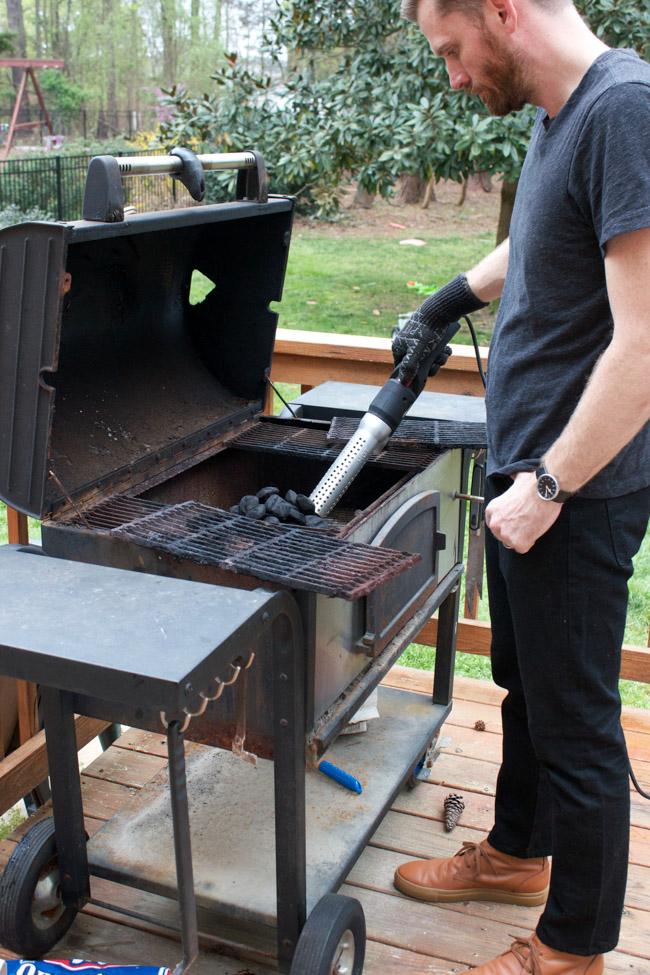 Make grilled Asian Pork Tacos using the HomeRight ElectroLight Fire Starter!