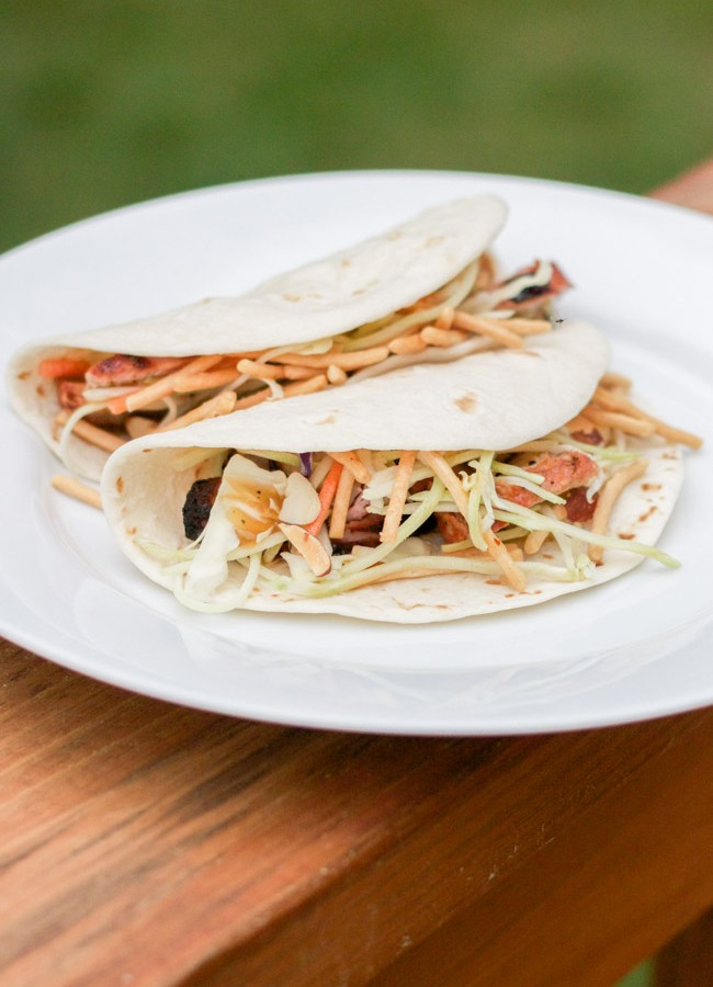 Grilled Asian Pork Tacos & a Giveaway