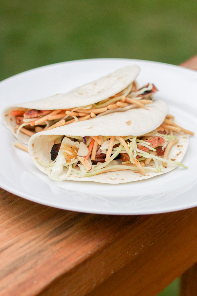 Grilled Asian Pork Tacos - these are amazing!