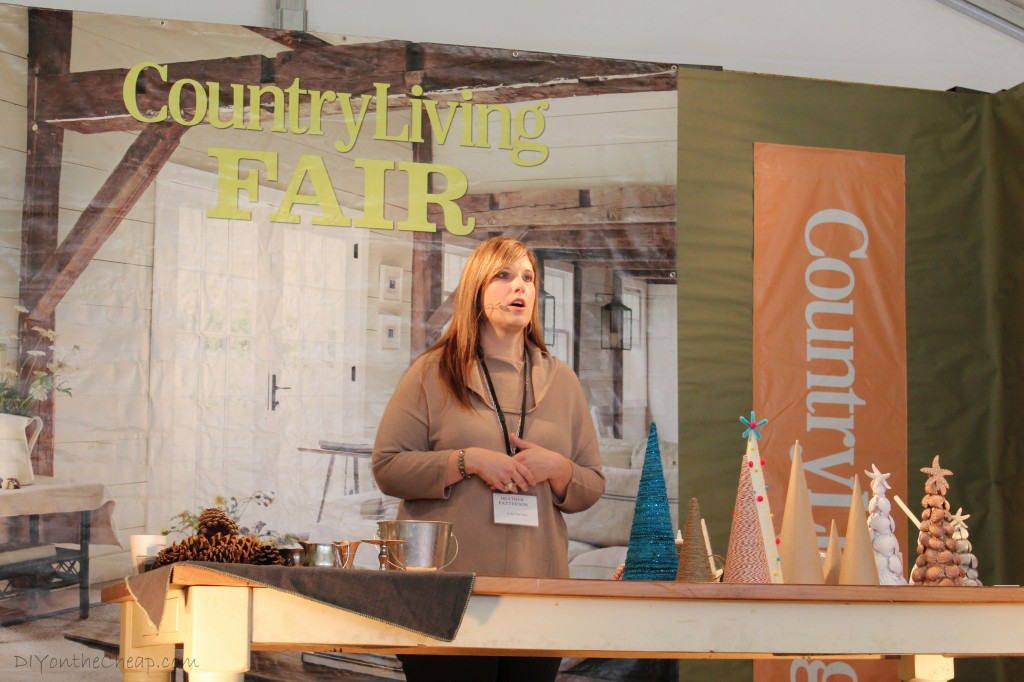 Heather Patterson of At the Picket Fence, presenting at the Country Living Fair.