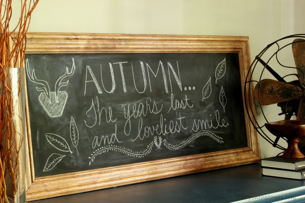Fall Chalkboard Art
