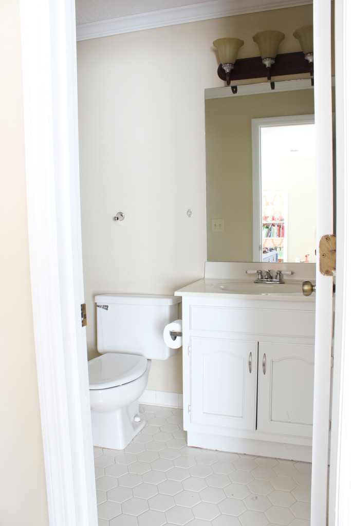 Tips For Painting A Bathroom Vanity Our Playroom Bathroom Erin Spain
