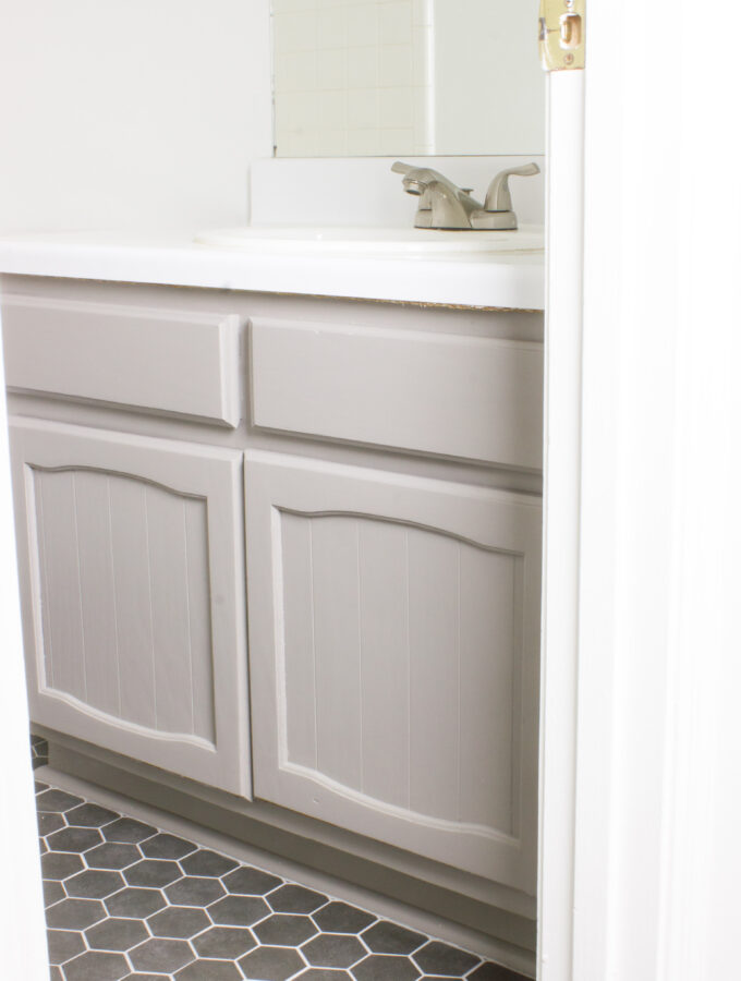 DIY Bathroom Vanity and Countertop Makeover