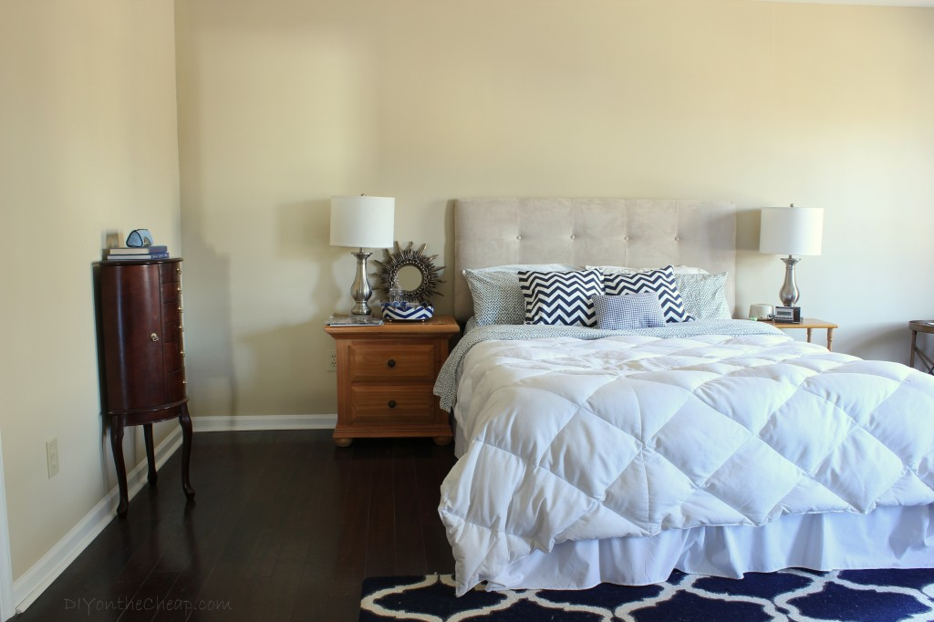 Master Bedroom progress at our new house.