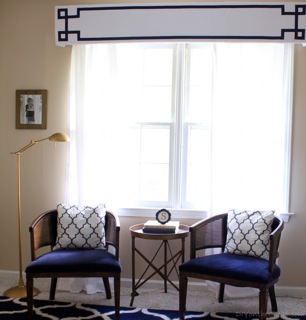 Bedroom Sitting Area: Navy and Gold Bedroom Makeover