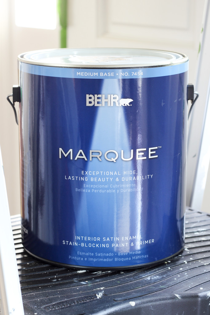 Tips for painting a bathroom vanity with BEHR MARQUEE.