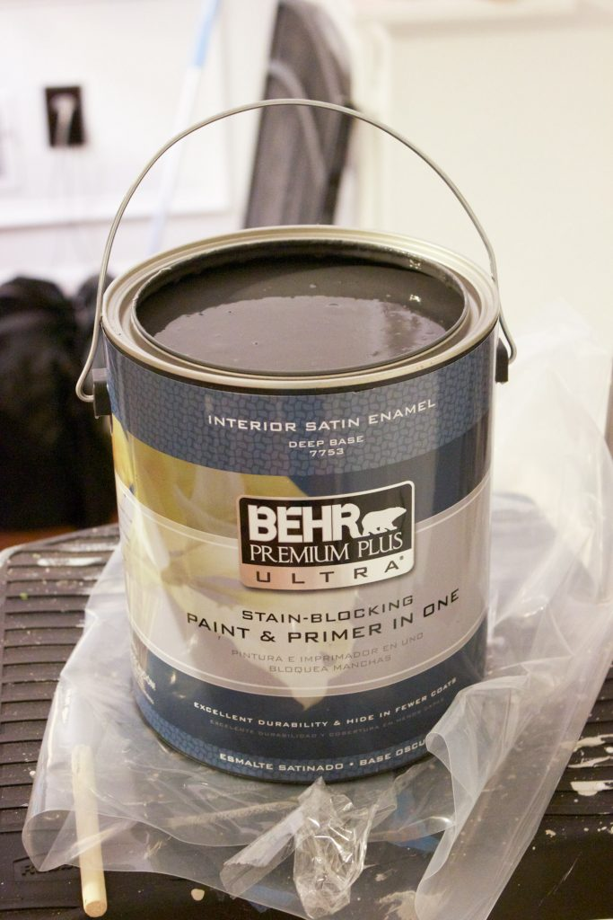 Behr Premium Plus Ultra in Cracked Pepper is the perfect dark gray, almost black but not quite.