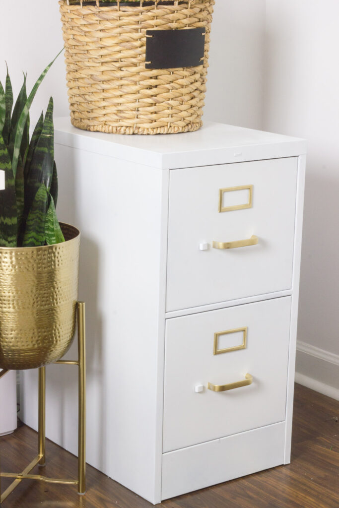Check out this DIY Boho living room and home office makeover!