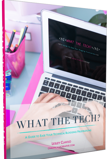 The What the Tech? E-book will ease your fears about the technical side of blogging.