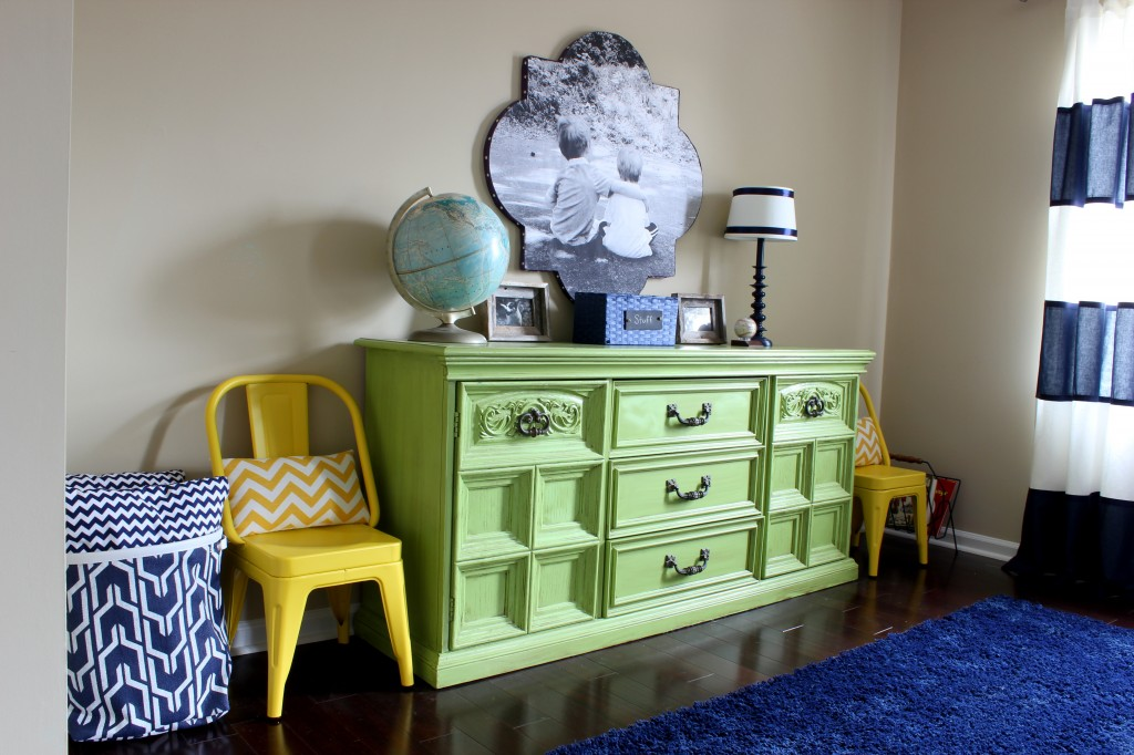 This Lime Green Dresser Looks Awesome In Boy S Bedroom What An Amazing Before