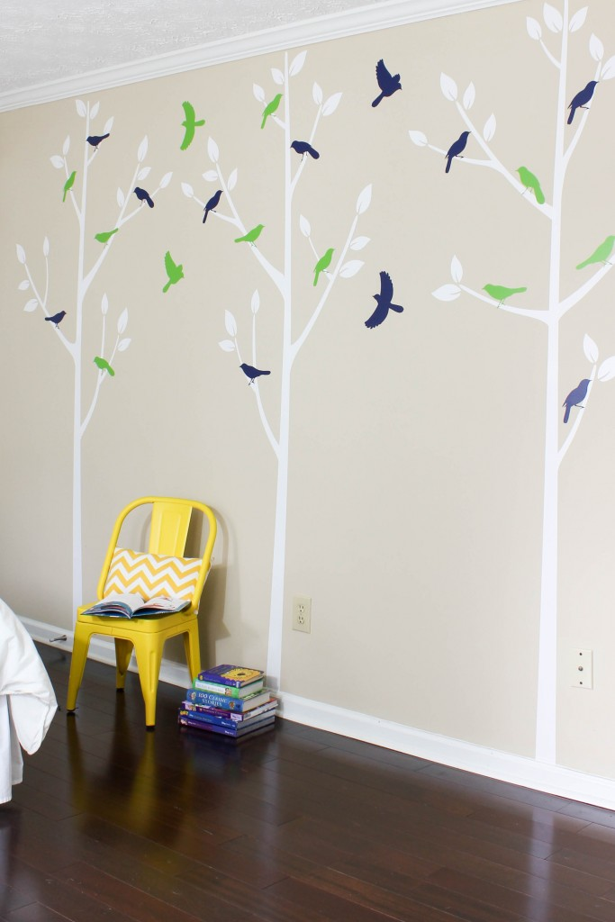 Boys Room with Wall Decals
