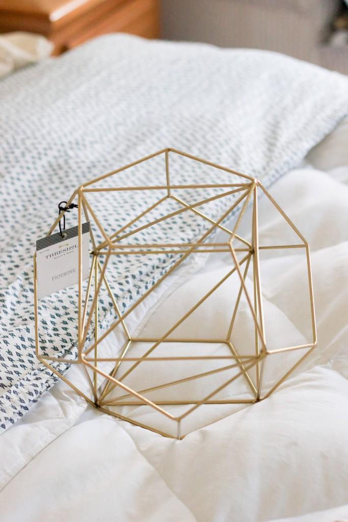 DIY Pendant Light made with a brass figurine