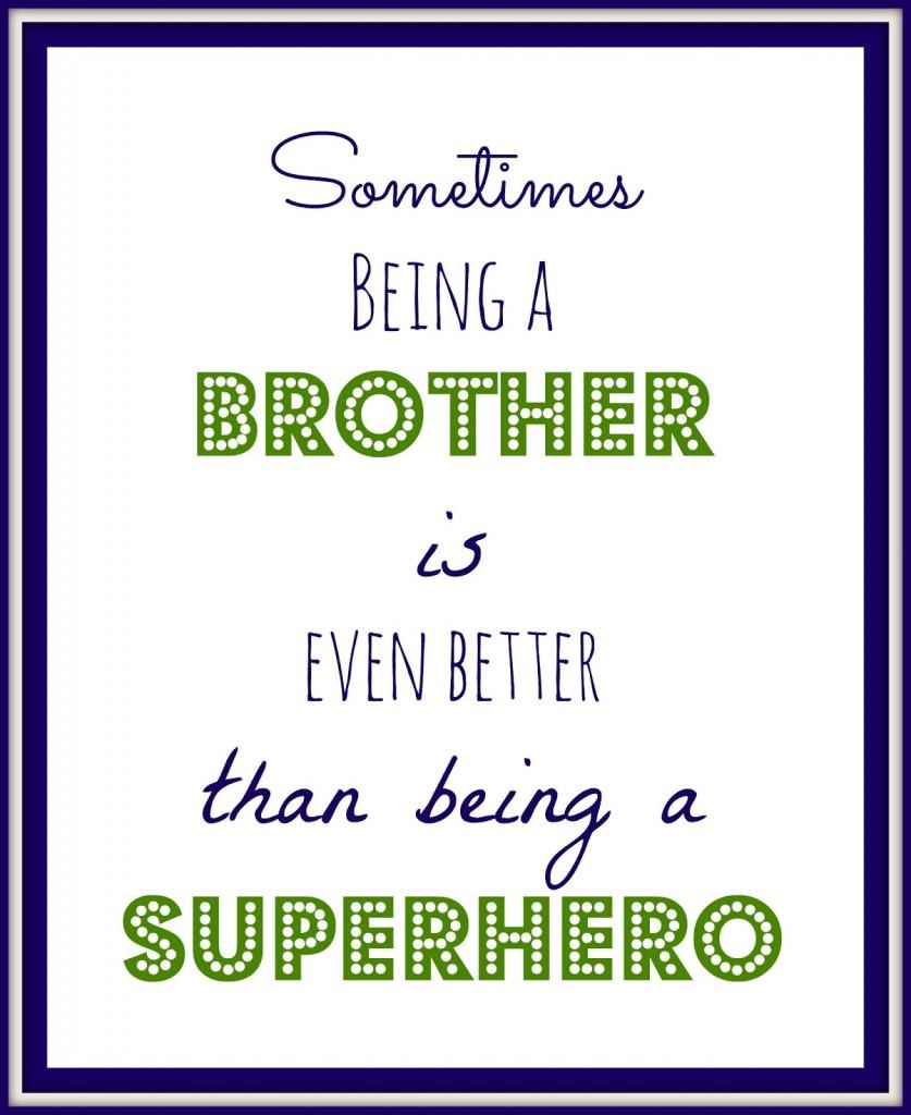 Free Brother Printable