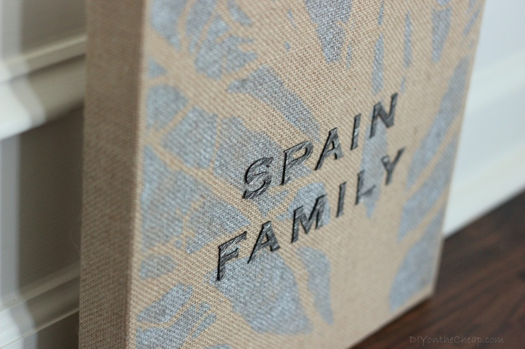 """Family"" Burlap Canvas Art Tutorial"