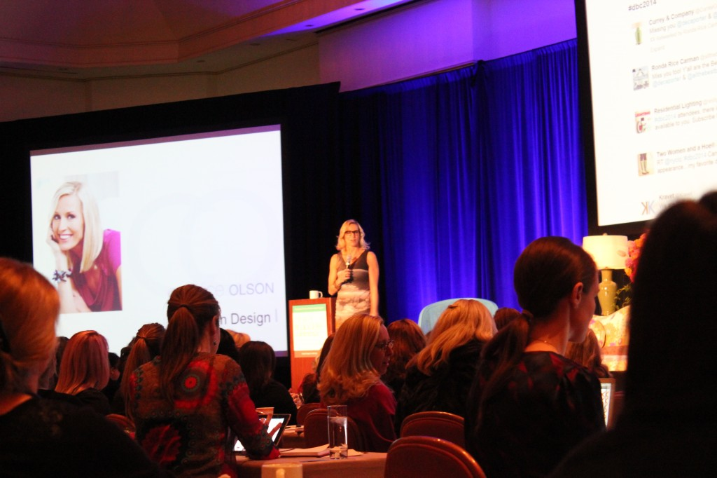 Candice Olson speaks at the Design Bloggers Conference in Atlanta