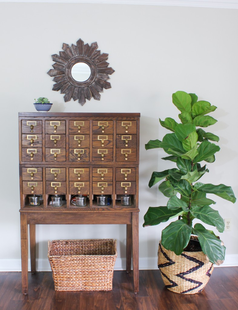Spring Home Tour at DIY on the Cheap: Card Catalog