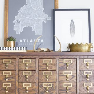 Fall home tour featuring card catalog and mom cave.