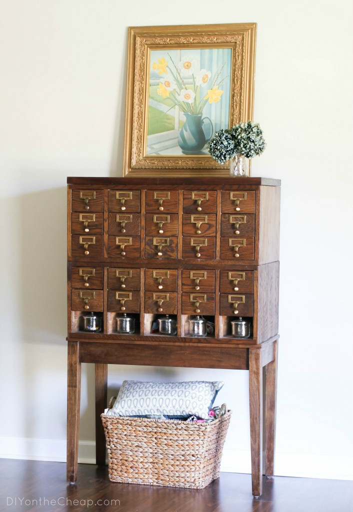 Check out this library card catalog transformation!