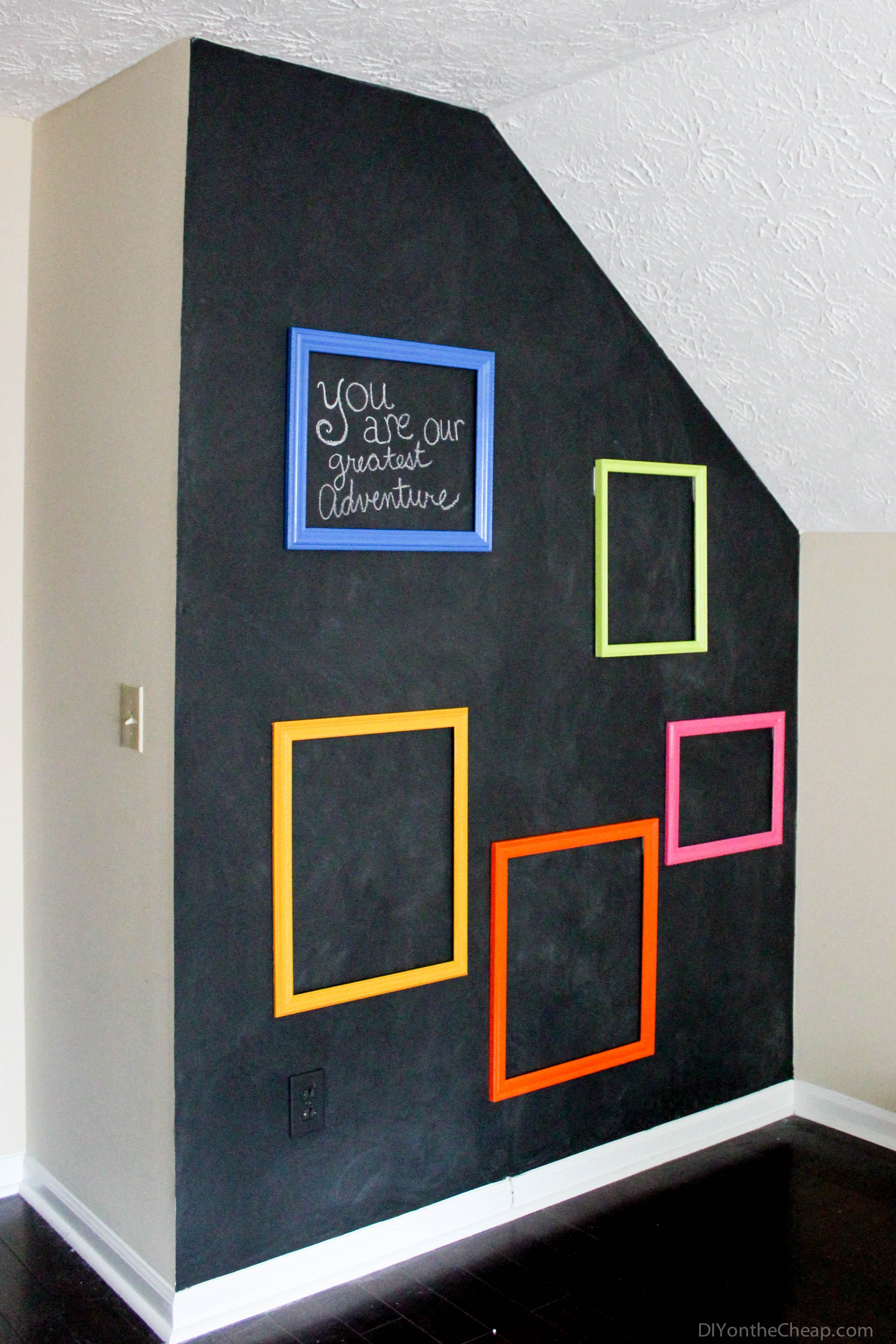 playroom interactive chalkboard gallery wall erin spain. Black Bedroom Furniture Sets. Home Design Ideas