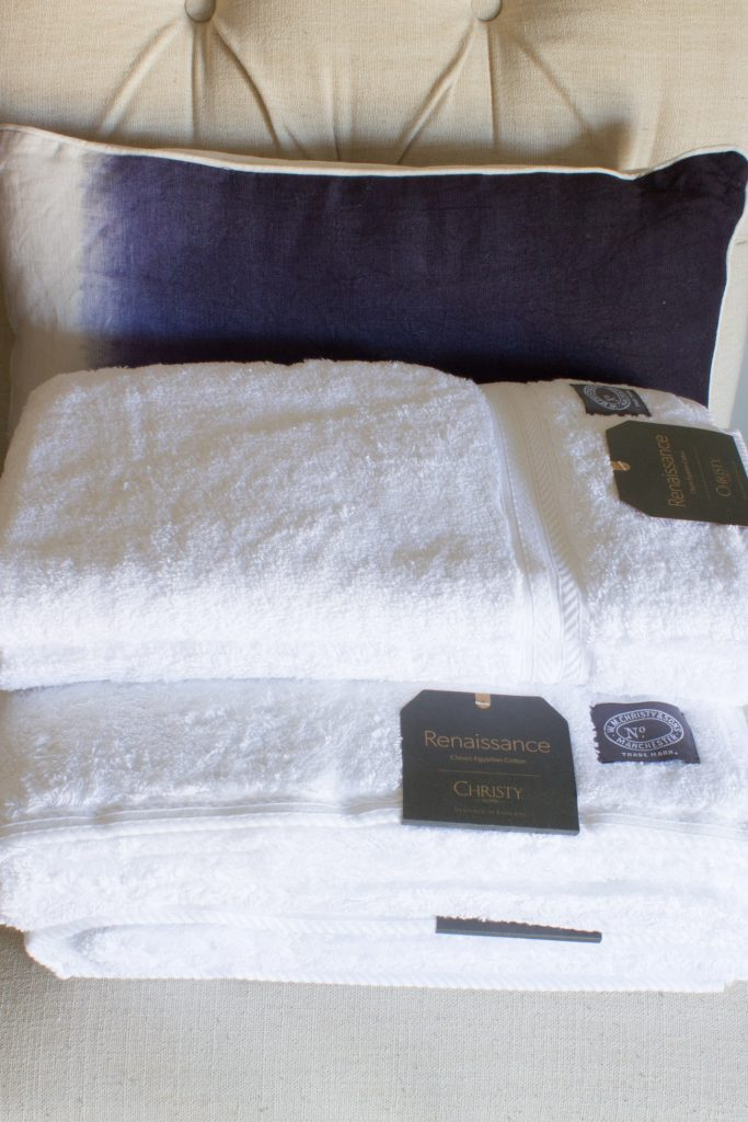 Christy Renaissance towels from Christy Linens are so soft, durable, absorbent, and perfect for guests!