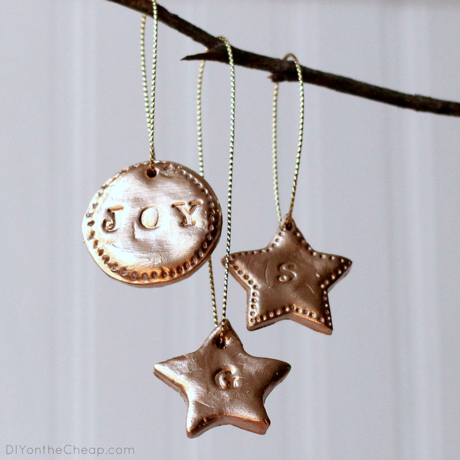 Diy Hand Stamped Clay Ornaments Erin Spain