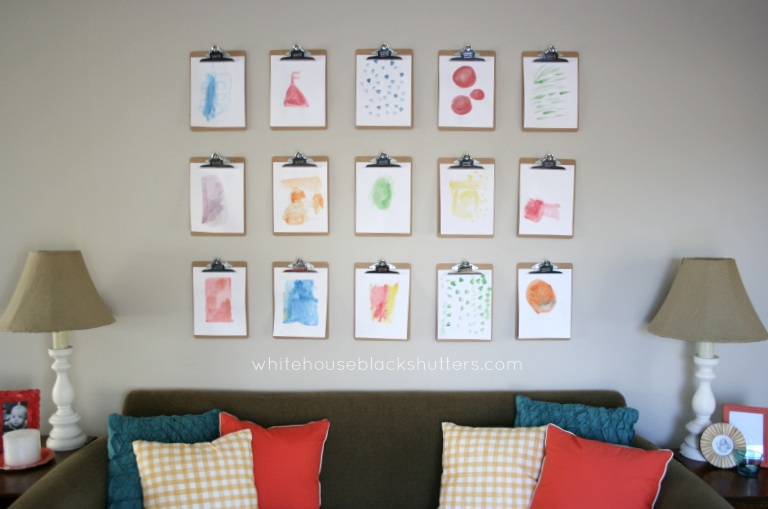 Unique Inexpensive wall art ideas Create a clipboard wall