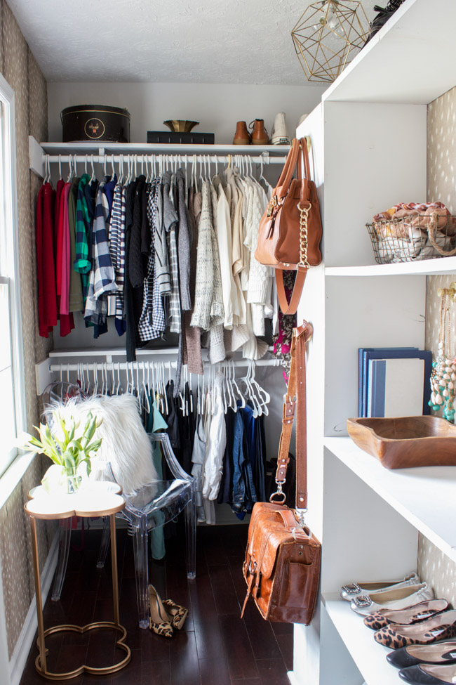 Closet makeover reveal.