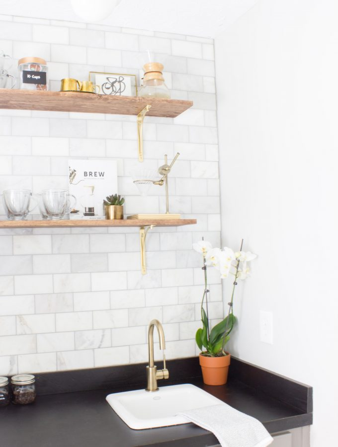 Coffee Bar Makeover One Room Challenge Reveal