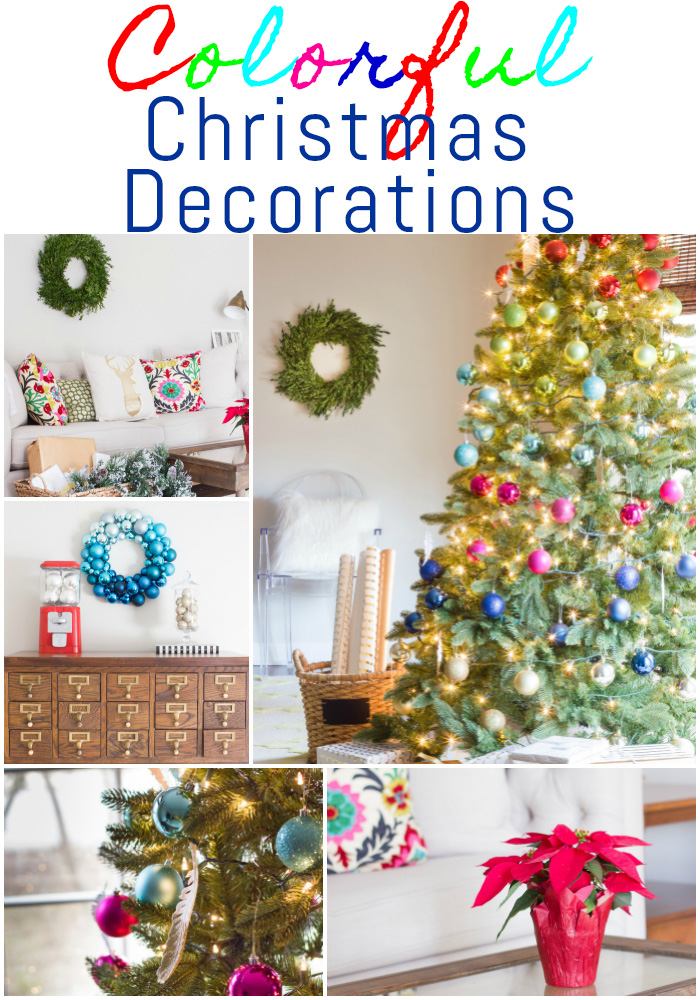 absolutely loving these gorgeous colorful christmas decorations