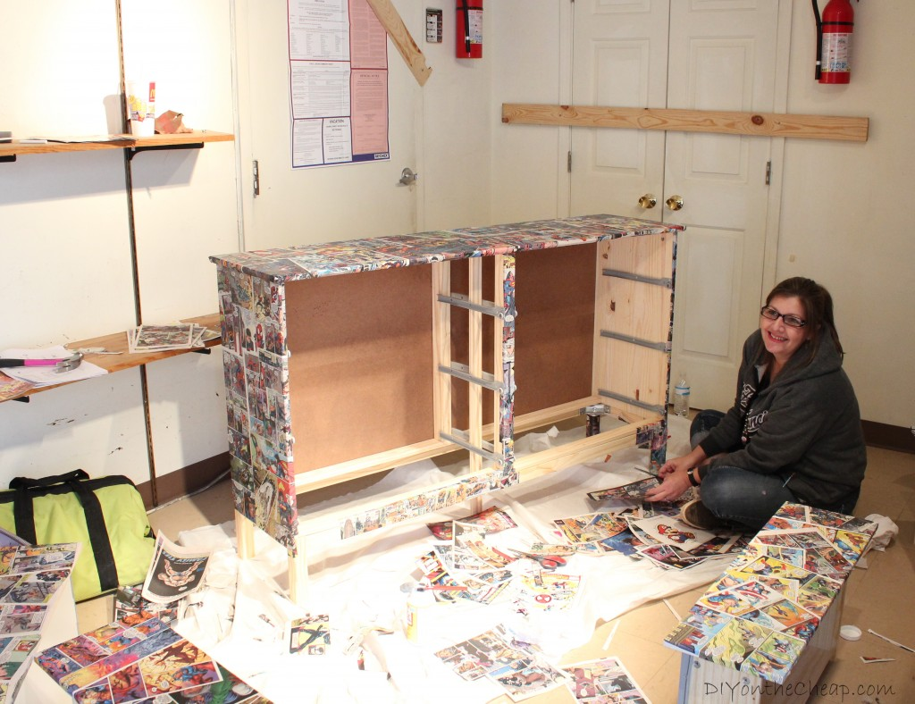 comic book furniture. DIY Comic Book Dresser Furniture R