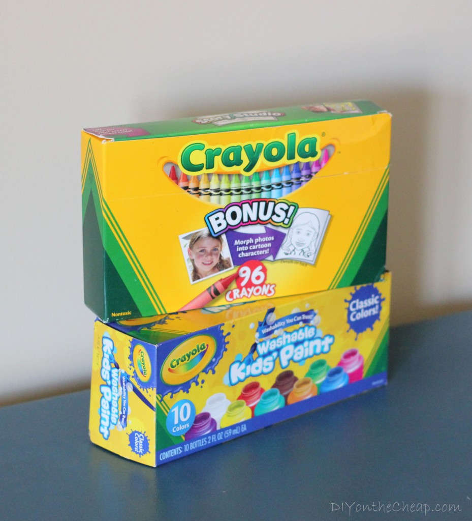Create a kid's art gallery wall with Crayola!