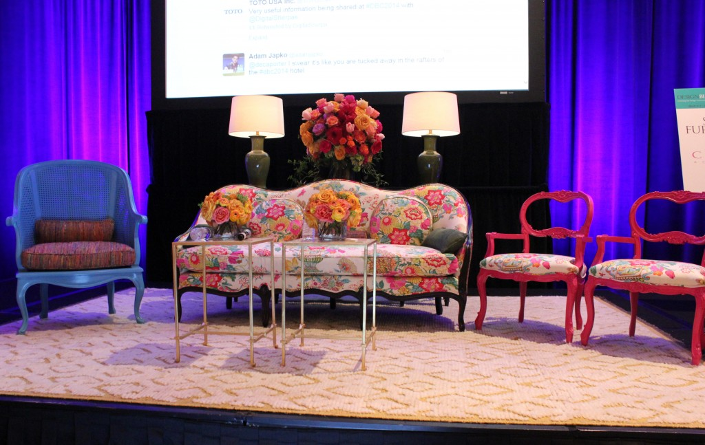 Beautiful stage at the Design Bloggers Conference in Atlanta