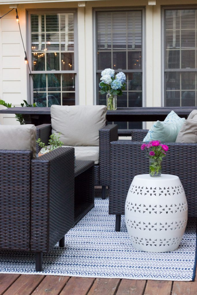 Check out this deck makeover featuring furniture from Leisure Made!