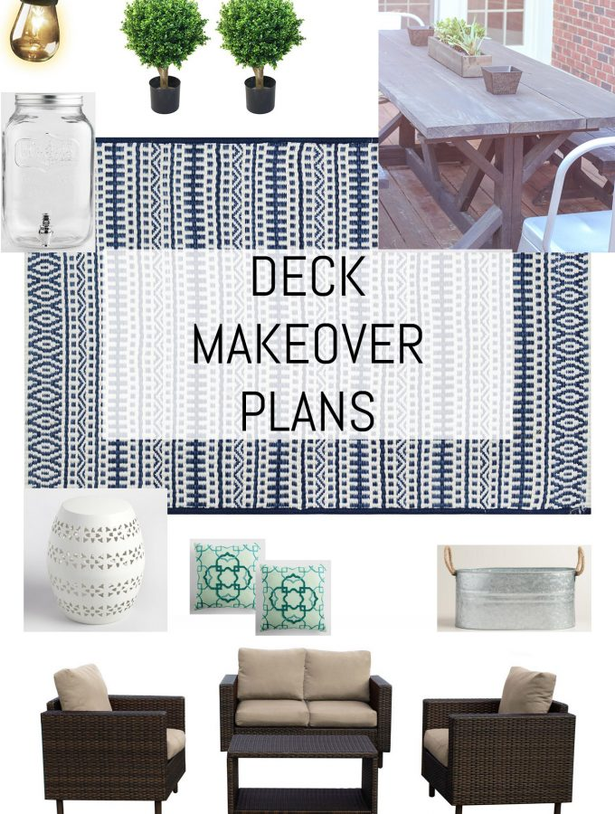 Loving these deck makeover plans!