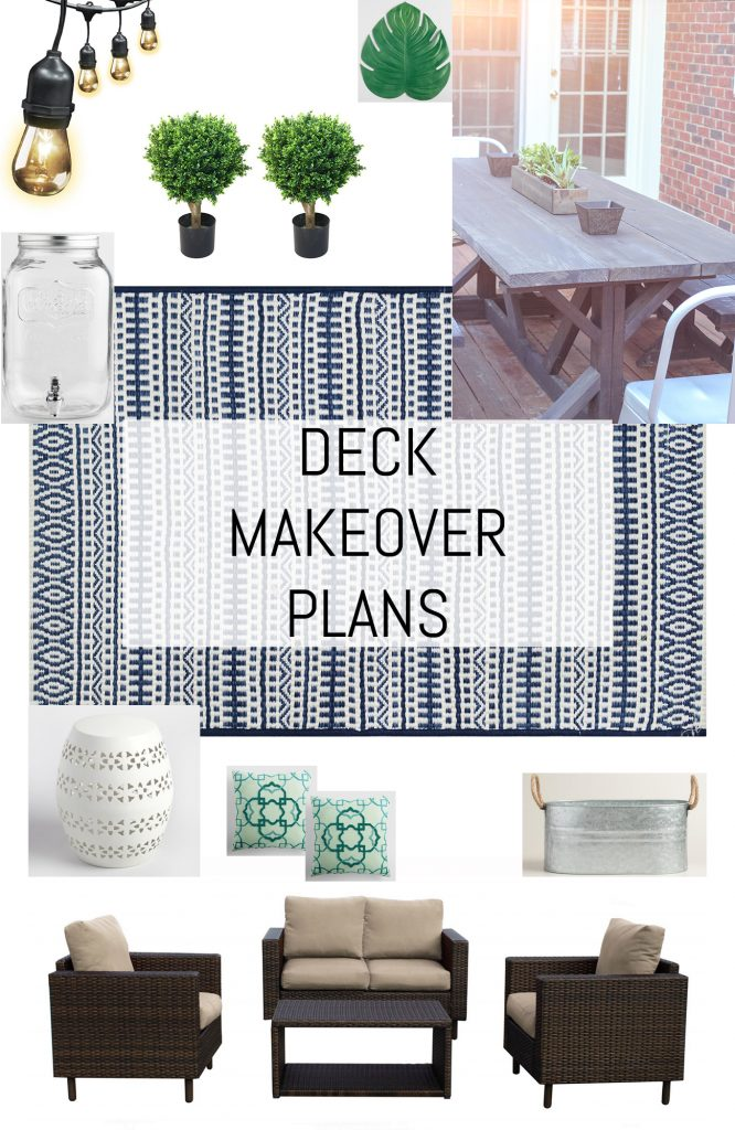 Deck makeover plans: a moodboard.