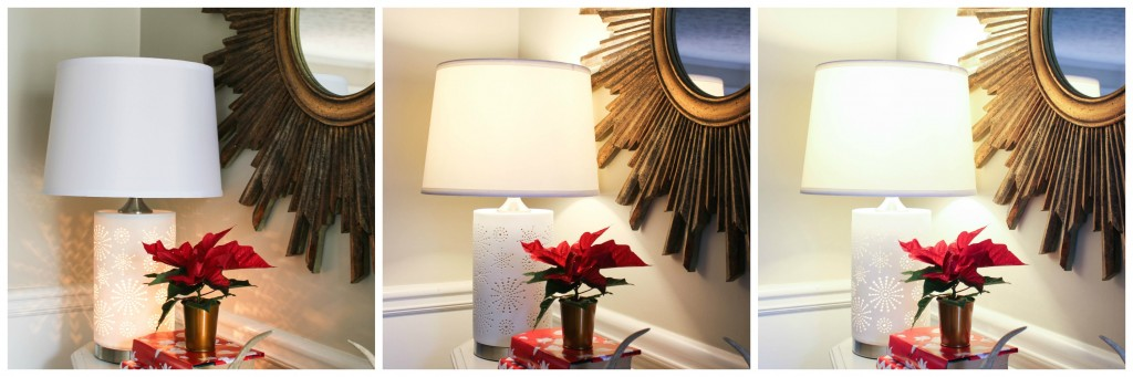 Home for the Holidays Design Challenge: Entryway Reveal featuring the Murray Feiss Modello Lamp.