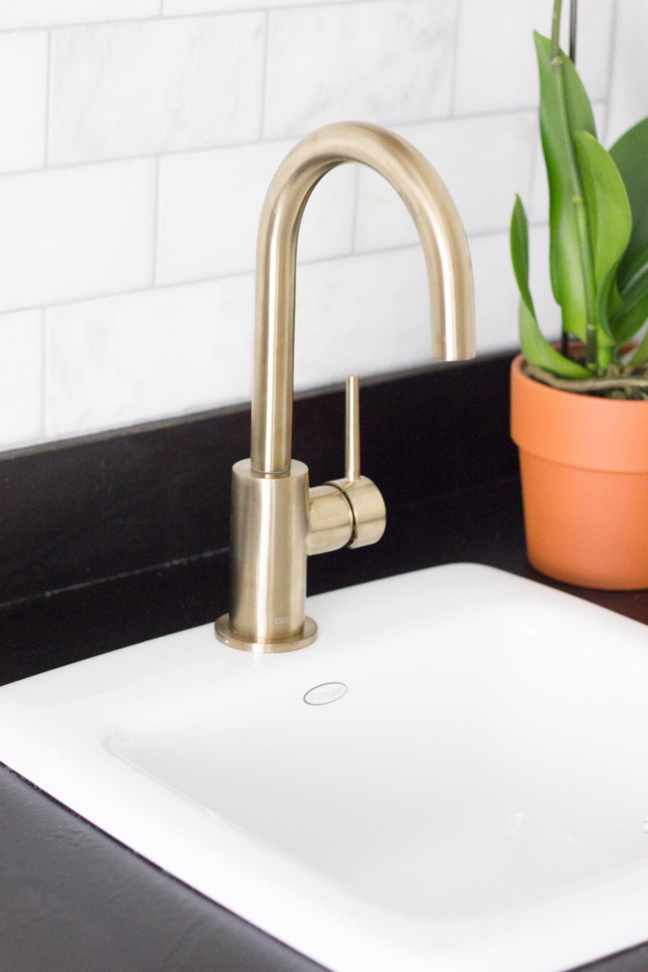 Delta trinsic bar prep faucet erin spain for Delta trinsic bathroom sink faucet