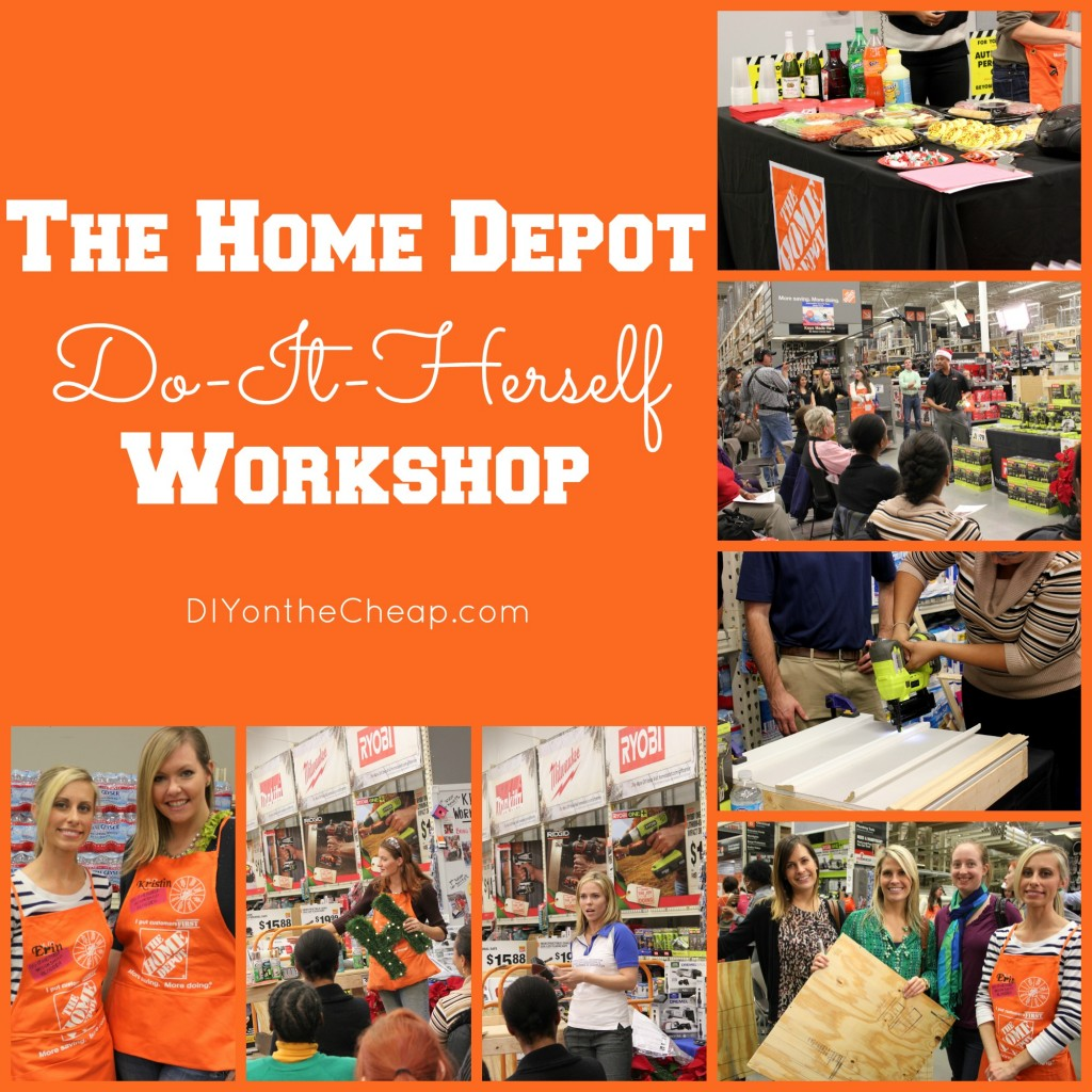 The Home Depot has monthly Do-It-Herself Workshops. Check out a recap of November's #DIHWorkshop!