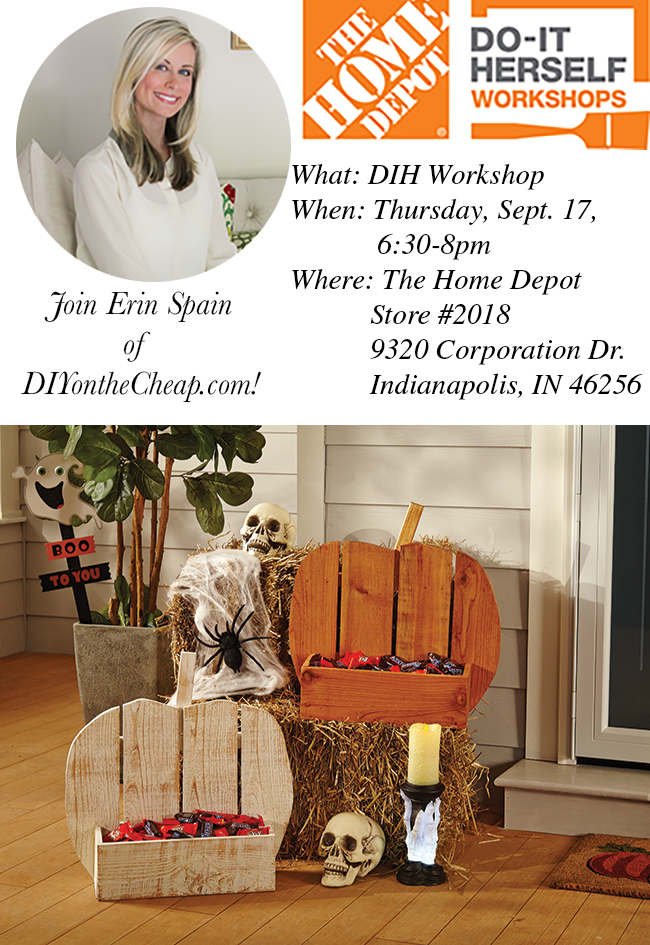 Register for The Home Depot DIH Workshop near you! I'll be hosting in Indianapolis on September 17. #ad