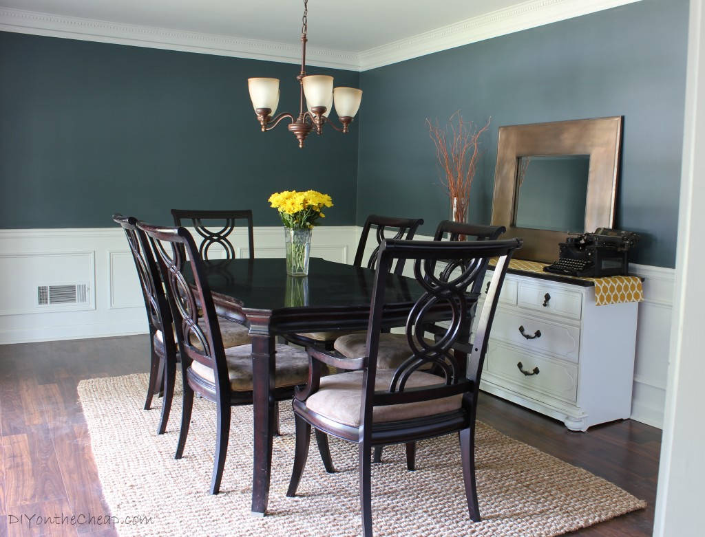 Delicieux Dining Room Makeover   Love This Color! Benjamin Moore Nocturnal Gray