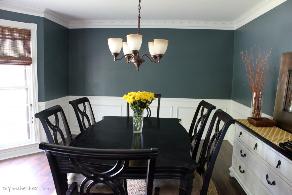 Elegant Dining Room Makeover   Love This Color! Benjamin Moore Nocturnal Gray Images