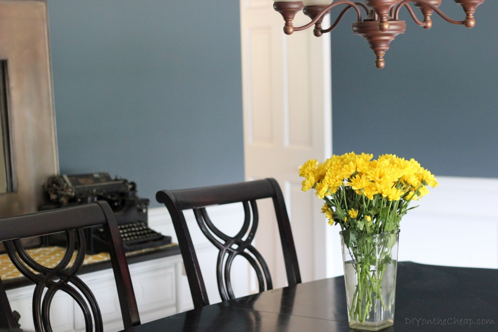Dining Room Makeover - Love this color! Benjamin Moore Nocturnal Gray