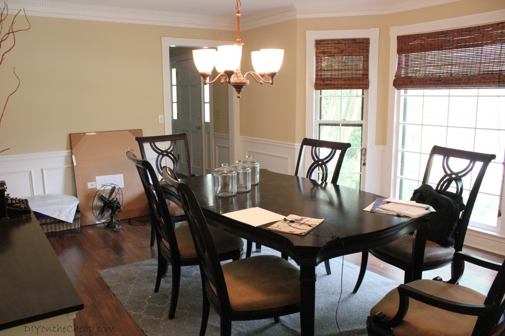 painting dining room table before and after sets - Painting Dining Room