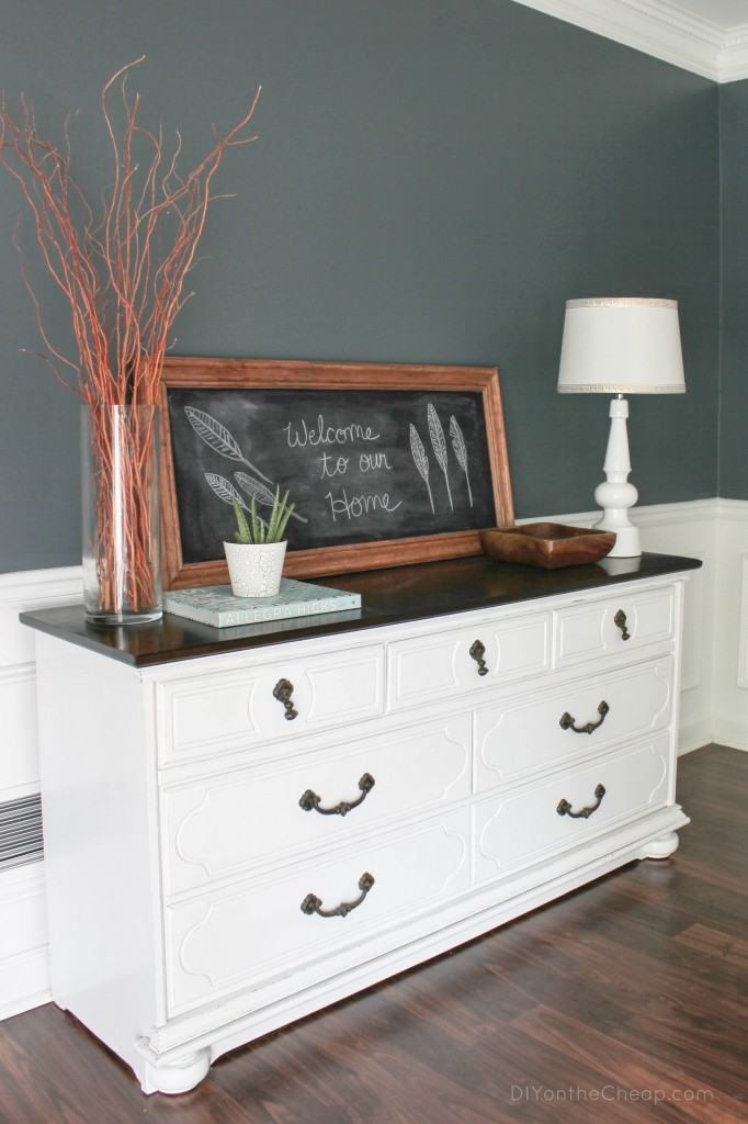 Refinished dresser reveal erin spain for How to paint my bedroom furniture